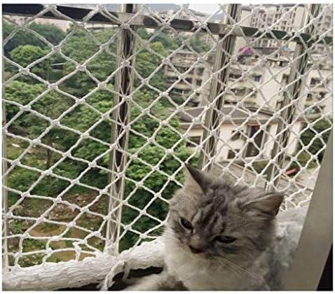 Anti-valnet, kindveilig net afneembaar beschermend net kat net decoratie net, geschikt voor balkon stap hek deur raam leuning stapelbed kabelbinder
