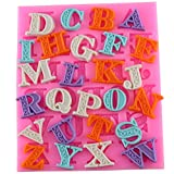 Mujiang Fondant Letter Mold Candy Making Tools Silicone Alphabet Molds Cake Decorating