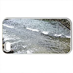 Across the rapidly flowing streams - Case Cover for iPhone 4 and 4s (Rivers Series, Watercolor style, White)