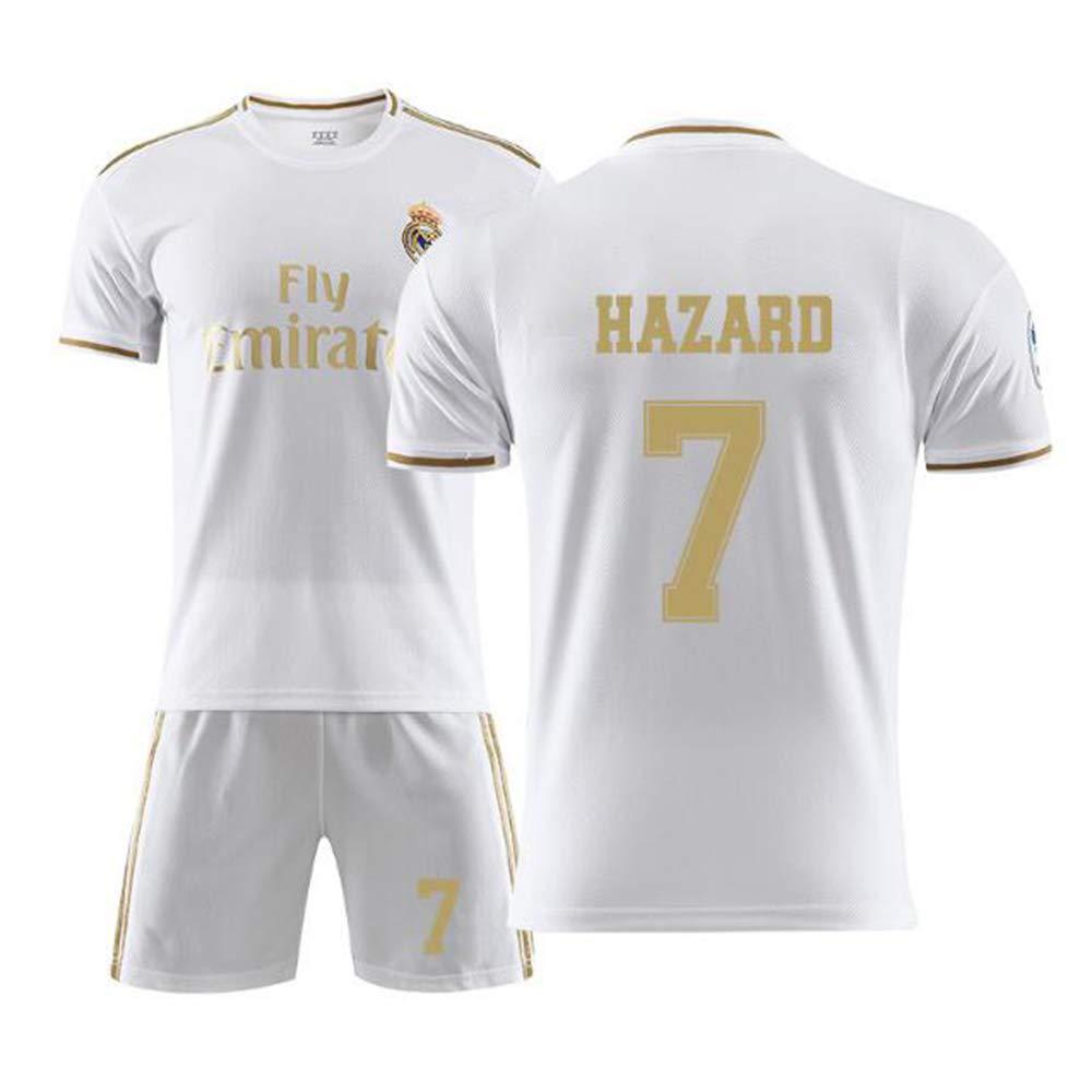 Football Uniforme T-Shirt Ensembles de Sport Surv/êtement de Football Gar/çon WSAYY Uniforme De Football Eden Hazard 7