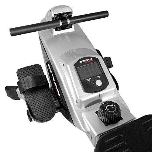 Titan Adjustable Magnetic Resistance Rowing Machine w/LCD Screen Rower Folds Up & Saves Space by TITAN FITNESS (Image #6)