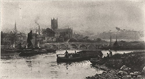 Pictures from the Royal Academy. Worcester - Stuart Lloyd. Worcestershire - 1898 - old print - antique print - vintage print - printed prints of Worcestershire ()