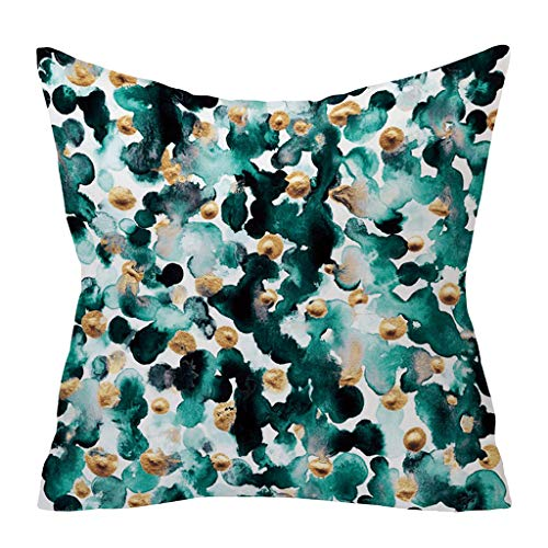 Qingell Geometric Decorative Throw Pillow Covers Square Cotton Linen Cushion Covers Outdoor Sofa Home Pillow Cover 18x18 (Best Recent Boxing Matches)