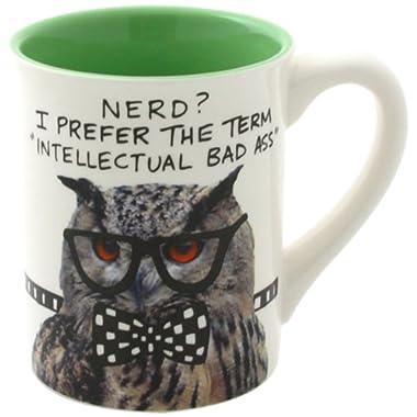 Enesco Hoots N' Howlers by Lorrie Veasey Nerd Owl Mug, 16-Ounce