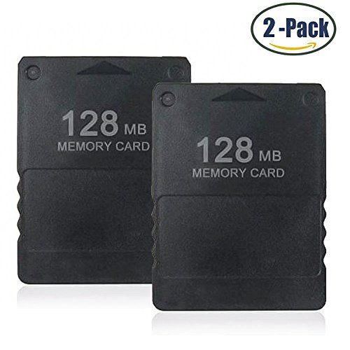 514U80JTNYL - 2-Pack Braylin 128MB High Speed Memory Card for Sony PS2