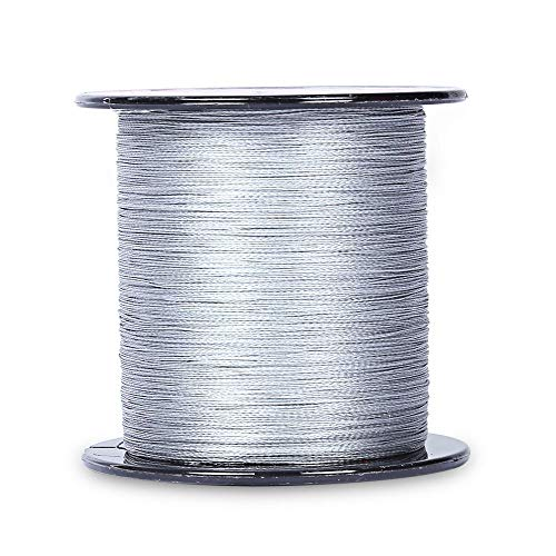 Karin Beckett Braided Fishing Line PE Superpower 4 Strands Strong Superline Abrasion Resistant for Outdoor Activities 328yards 6LB-100LB (Gray, 1.5#: 0.20 mm / 20LB / 9KG)
