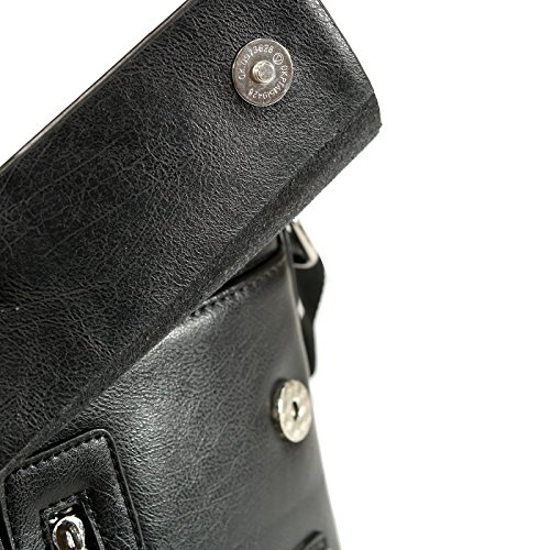 negro de al base 4cm larghezza hombre FURSTENBERG Bolso para di Negro 21cm; EGON altezza cuero 18cm; base sintético hombro cqv4Hyp