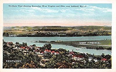 Ashland Kentucky Ohio West Virginia Tri-State View Antique Postcard J35623