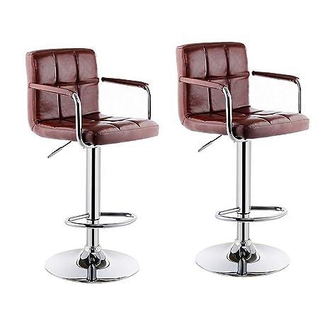 Amazon.com: QIDI Juego de 2 taburetes de bar para silla ...