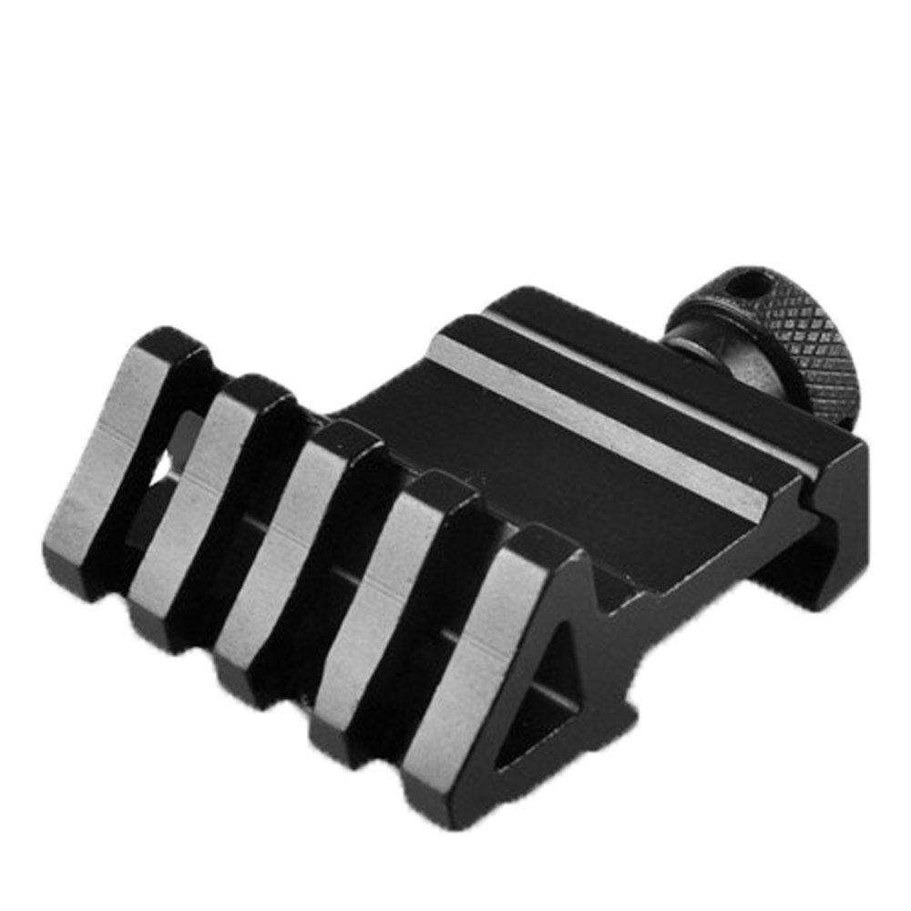 Calitte Rail Mount Flashlight Adapter 5 Slots 20mm Weaver Rail Mount