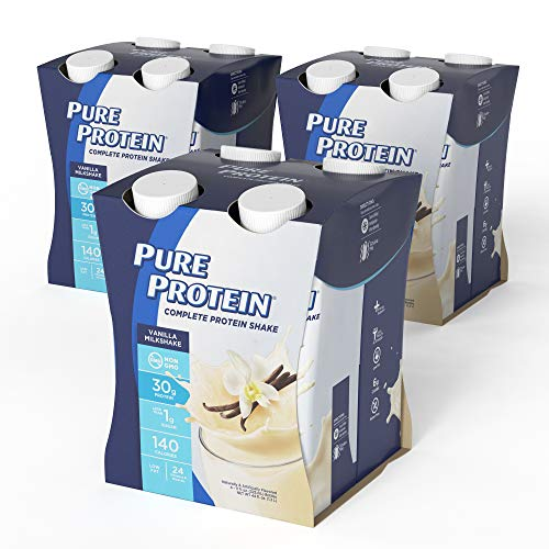 Pure Protein Complete Ready to Drink Shakes, High Protein, Vanilla, 11oz, 12 Count