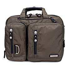 """Bonvince 17.3"""" Multi-function Laptop Briefcase Backpack with Handle and Shoulder Strap Fits Up To 17.3 Inch Laptops Army Green"""