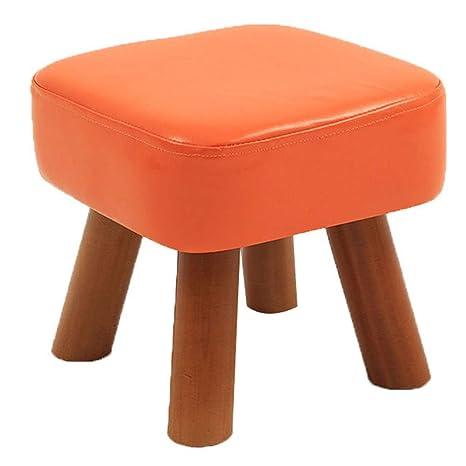 Amazon.com: LSXIAO - Taburete de sofá de madera maciza con ...