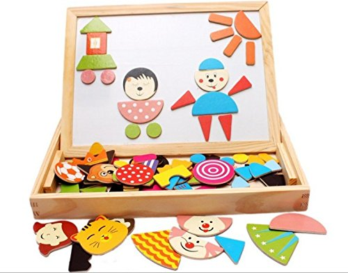 bs-feel-learning-education-magnetic-puzzle-wooden-multifunction-writing-drawing-toys-board-for-kids-