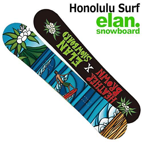 18-19 ELAN エラン HONOLULU SURF ホノルル サーフ ヘザーブラウン メンズ レディース 板 スノーボード 2019