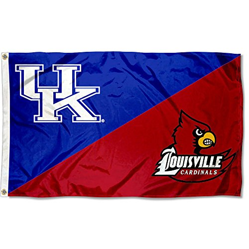College Flags and Banners Co. Louisville vs. Kentucky House Divided 3x5 Flag