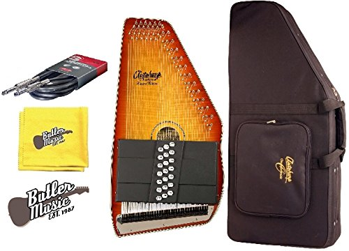 Oscar Schmidt OS11021FHSE Flame HB A/E 21 Chord Autoharp w/Hard Case and More by Oscar Schmidt
