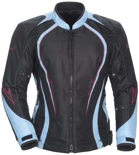 Cortech LRX 3.0 Women's Textile Street Motorcycle Jacket - Black/Light Blue / Plus Small