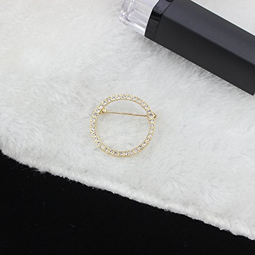Ja and South Korea diamond brooch clothing accessories suit outside shoulder corsage pins female scarf draped sleeve button igan sweater (Corsage Shoulder)
