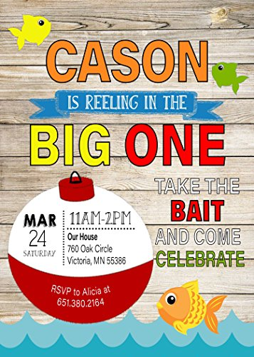 Fishing Big One First Birthday -