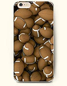 SevenArc Phone Case for iPhone 6 Plus 5.5 Inches with the Design of Brown rugby Piling up