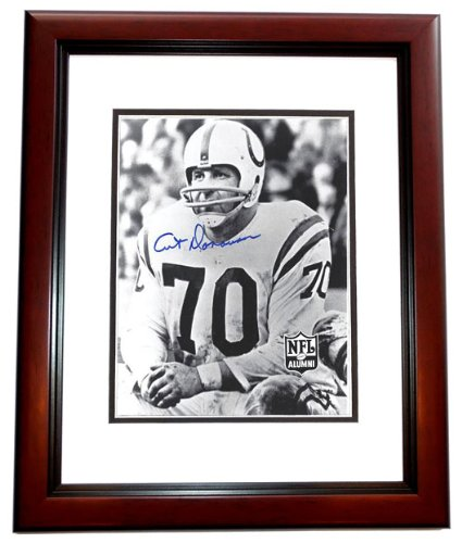 Art Donovan Signed - Autographed Baltimore Colts 8x10 inch Photo MAHOGANY CUSTOM FRAME - Hall of Famer Art Donovan Signed Baltimore Colts