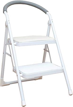 LIYFF-Escaleras plegables Portátil Plegable 2 Pasos Taburete de Escalera Cocina Taburete de Paso Taburete de Cocina Ligero Antideslizante, Capacidad de 150 kg: Amazon.es: Hogar