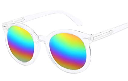 DaQao - Gafas de sol vintage, redondas, flexibles, de goma ...