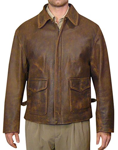 III-Fashions Indiana Jones Harrison Ford Brown Leather Jacket