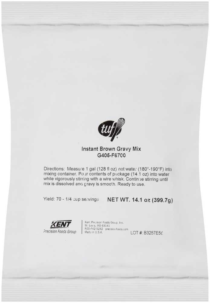 Total Ultimate Foods Instant Brown Gravy Mix, 14.1 Ounce - 8 per case.