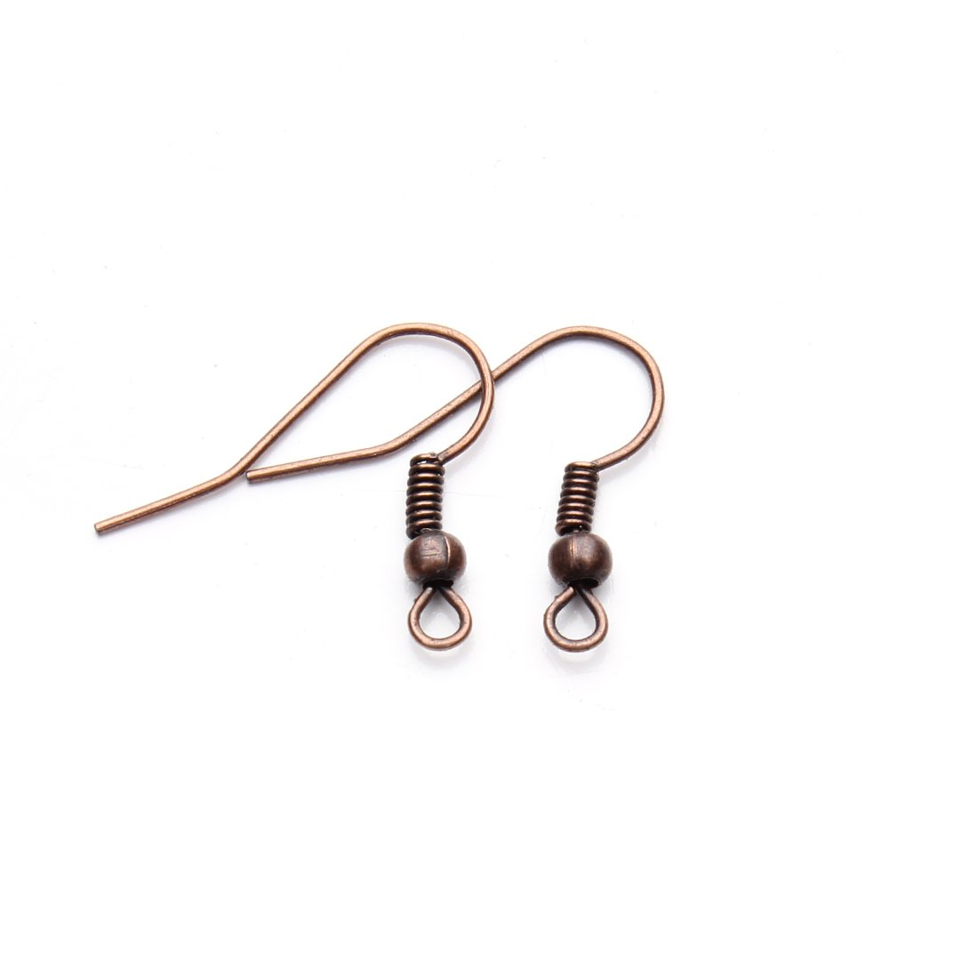 Linsoir Beads Iron Wire Earring Hooks with Large Loop Packed of 200 Antique Bronze Plated