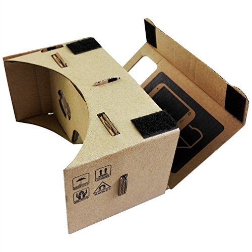 Hongye Cardboard 3D VR Virtual Reality glasses Suit for all sizes Mobile smartphone(brown)