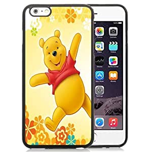 Beautiful Unique Designed Cover Case For iPhone 6 Plus 5.5 Inch With Winnie The Pooh Black Phone Case