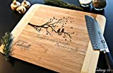 Personalized Cutting Board Engraved Bamboo Chopping Block HDS - Love Cat tree