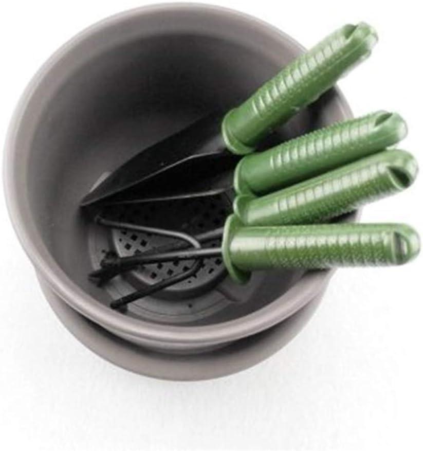 basku 4 St/ück Gartenger/äte Set Einschlie/ßlich Dreizahnegge Pflanzschaufel-Set mit ergonomischem Gummigriff S/ämlingstransplantator Schaufel mit breiter Oberfl/äche Spitzschaufel