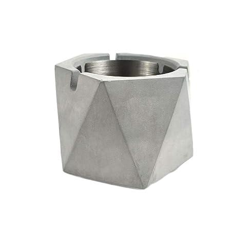 OPIB Cenicero de geometría de Cemento, cenicero de Mesa de Acero ...