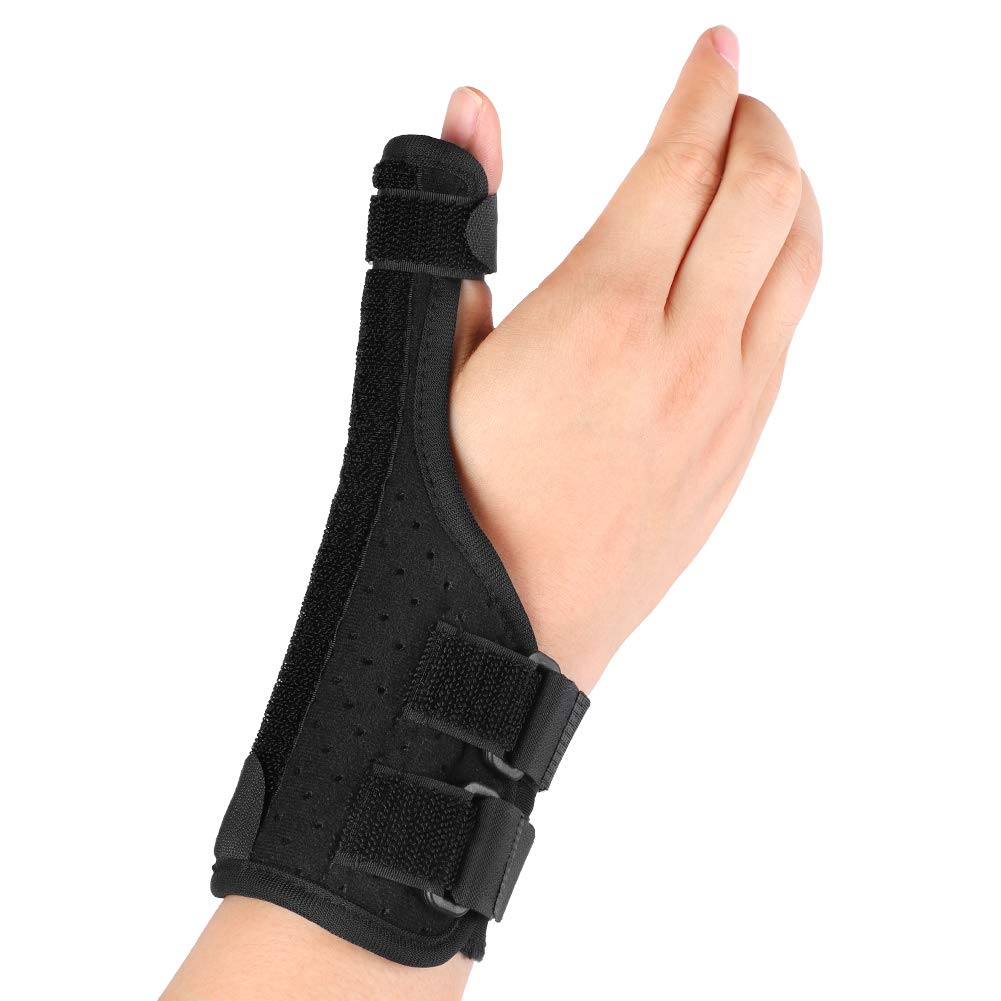 Thumb Spica Splint, Thumb Stabilizer Thumb Brace with Removable Splint and Adjustable Straps for Arthritis, Trigger Thumb, Carpal Tunnel Pain Relief, Fits Left or Right Hand