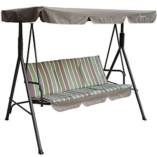 Kozyard Alicia Patio Swing Chair with 3 Comfortable Cushion Seats and Strong Weather Resistant...