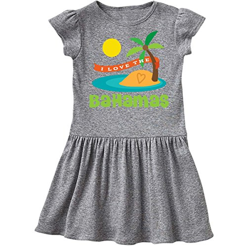 inktastic I Love The Bahamas Toddler Dress 4T Heather Grey 1ca44 (Bahama Heather)