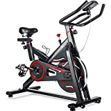 Merax Deluxe Indoor Cycling Bike Cycle Trainer Exercise Bicycle (Red)