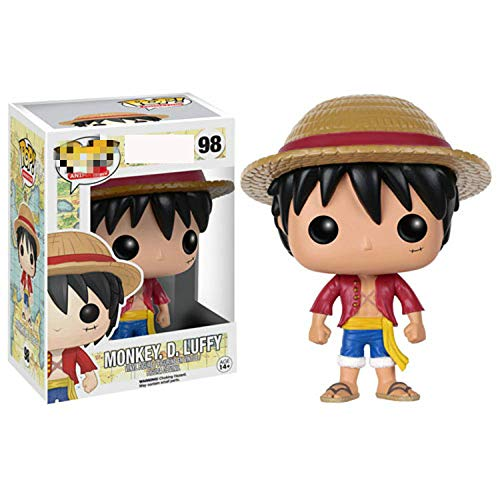 ZJAH 1Pcs Funko Pop One Piece 10cml Luffy 98 The Child Juguete Coleccionable, Multic