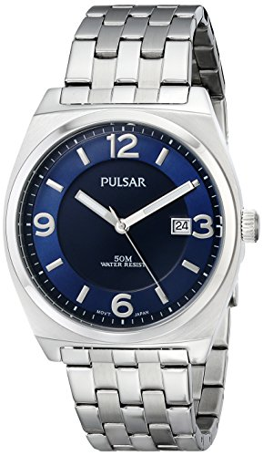 Pulsar Men's PS9279 Easy Style Collection Analog Display Japanese Quartz Silver Watch
