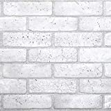 Brick Grey PVC 3D Wall Panels - Interior Design Wall Paneling Decor Commercial and Residential Application, 3.2' x 1.6'