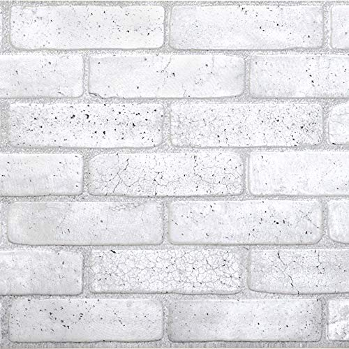 (Brick Grey PVC 3D Wall Panels - Interior Design Wall Paneling Decor Commercial and Residential Application, 3.2' x)