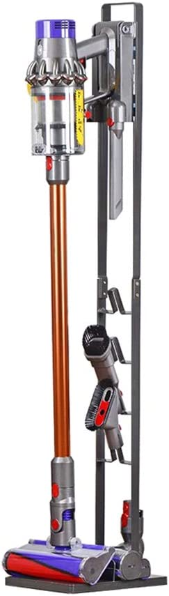 Meijunter Soporte de suelo para Dyson V6 V7 V8 V10 Aspirador inalámbrico - Soporte de Suelo Independiente,Cepillo Kit de Accesorios Almacenamiento Shelf