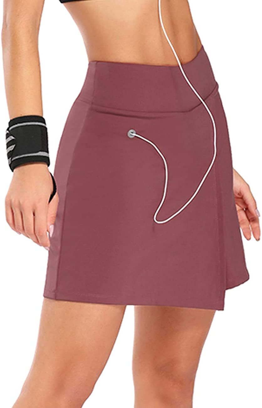 JOYMODE Women's Golf Skorts High Waist Workout Training Skorts and Skirts Tummy Control with 3 Pockets & Earphone Hole