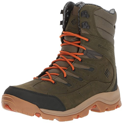 Columbia Men's Gunnison Plus Leather Omni-Heat Hiking Shoe, Nori, Desert Sun, 12 D US