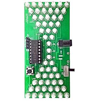 ILS - DIY electrónica de Reloj de Arena Kit Kit de Aprendizaje Interesante MCU Luces LED de Piezas de Repuesto