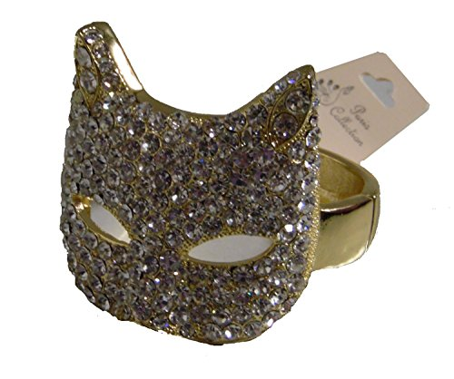 Ncis Abby Costumes - Cat Face Mask Bracelet with Rhinestone