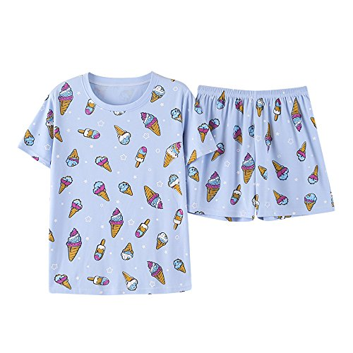 Vopmocld Cute Ice Cream Pajamas 2 Pieces Casual Sleepwear for Big Girls Size 12 14 16 by Vopmocld